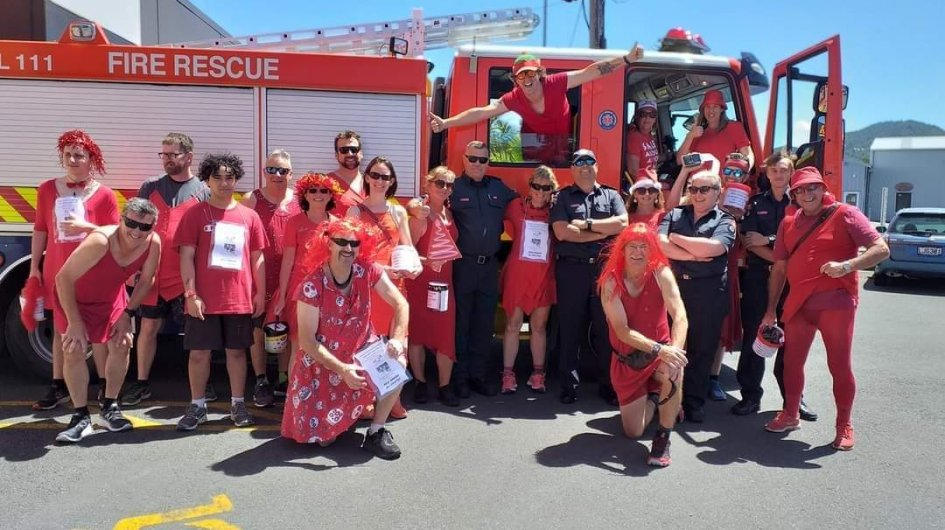 Whangarei Hash House Harriers - Red Dress Run for Camp Quality